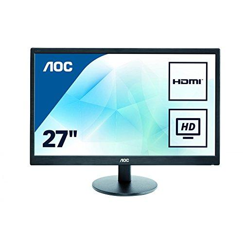 e2770sh AOC E2770SHE 68,6 cm (27 Zoll) Monitor (VGA, 2x HDMI, 1920 x 1080, 60 Hz) schwarz
