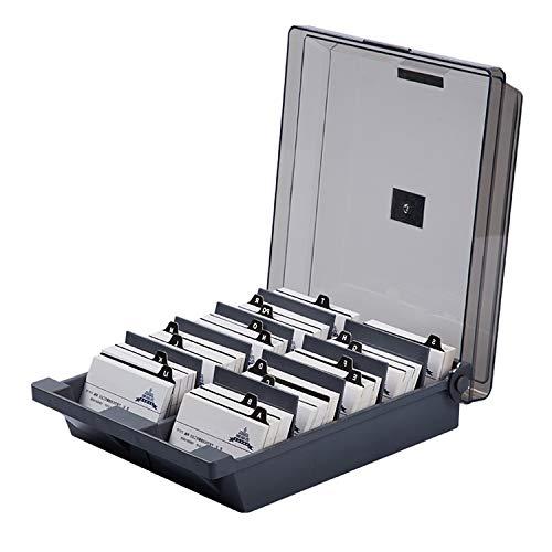 Große Kapazität Kunststoff Business Name Karten Storage Holder Organizer Box mit 20PCS Alphabet Index Registerkarten für das Halten von 1000 Karten (1000-karte Aufbewahrungsbox)