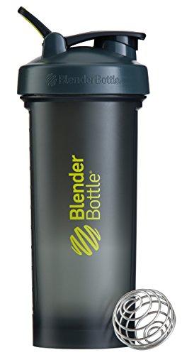 Blender Bottle Pro45 Protein Shaker / Wasserflasche / Sportflasche (1300 ml Fassungsvermögen, skaliert bis 1000ml) Grau/Grün