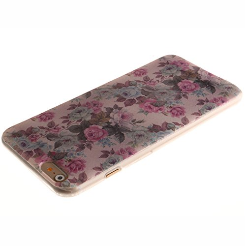 Nancen Apple iphone 5 / 5S (4,0 Zoll) Ultral Slim Weich TPU Silikon Case / Hülle / Handyhülle Backcover. Anti-Kratz und Anti-Staub. Weiße Blume
