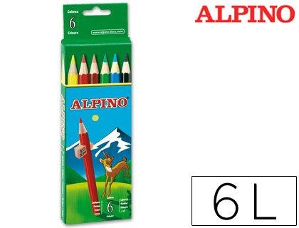 LAPICES DE COLORES ALPINO 651 C/DE 6 COLORES CORTOS (24 unid.)