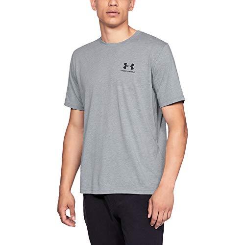 Under Armour Herren UA Sportstyle Kurzarm-Oberteil, komfortables T-Shirt für Männer mit Logo auf der linken Brust, Sportshirt mit loser Passform (Cop-outfit Für Männer)