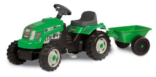 Smoby - 7/033329 - Vélos et Véhicules pour enfants - Tracteur vert avec remorque