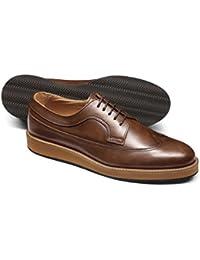 Tan Lightweight Winged Derby Shoe by Charles Tyrwhitt