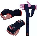 EVO Fitness - Bandages de Mains Elastiques GEL Intérieur de Gants de Boxe MMA Grappling UFC - L/XL