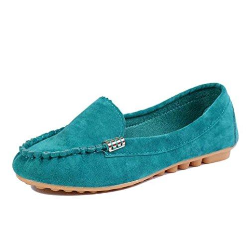 Chaussures, Fulltime® Femmes Chaussures plates prévenir Slip On Comfort Mocassins,Multiple Couleur Bleu