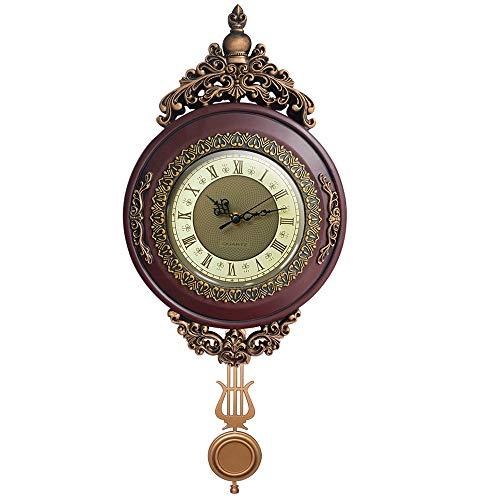 Giftgarden Horloge Murale Vintage à Pendule Silencieuse Retro pour la Maison Chambre café décor