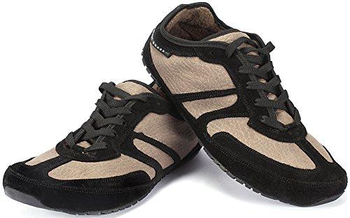 Magical Shoes - Explorer Autumn Barfußschuhe | Damen | Herren | Jugendliche | Laufschuhe | Zero Drop | Flexibel | Rutschfest, Größe:43 / 276mm, Farbe:MS Explorer Autumn Grizzly - Schwarz/Beige