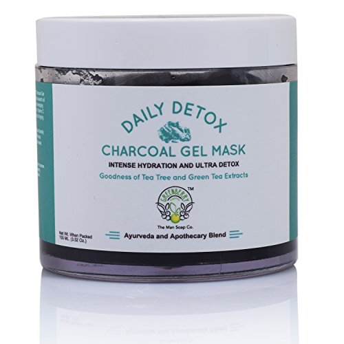 Greenberry OrganicS Daily Detox Charcoal Gel Face Mask With Tea Tree And Green Tea Extracts 100 Gms
