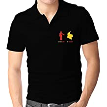 Teeburon I LEFT MY HEART IN Colombia MAP Polo Camisa