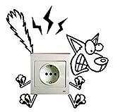 Homgomco Sticker Mural avec Interrupteur électrique pour Jeu de Chambre d'enfants Autocollant Vinyle drôle (A)