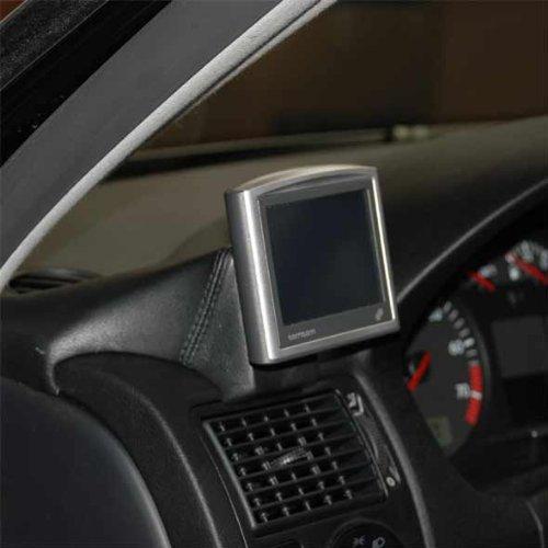 Kuda–Consola de teléfono para (LHD) para Navi Volkswagen Golf IV desde 97piel negro