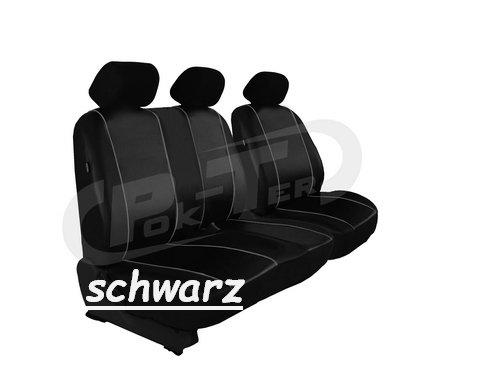 Maßgefertigter Sitzbezug für FORD TRANSIT CUSTOM ab 2012. Fahrersitz + 2er Beifahrersitzbank...
