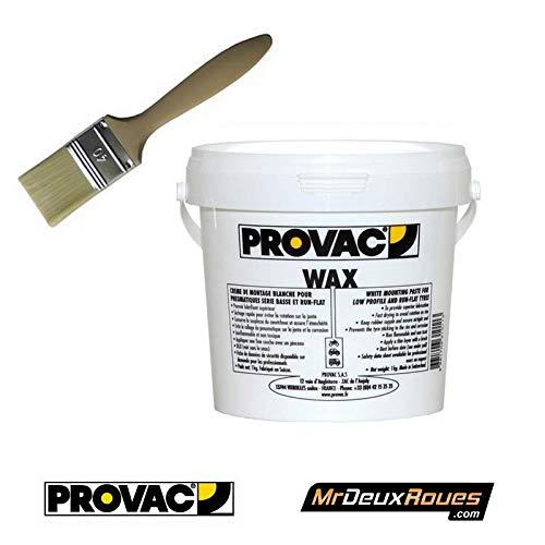 proVac - Pack Crème De Montage Pneu 1Kg Et Pinceau 40Mm - VL, Vu Et Moto