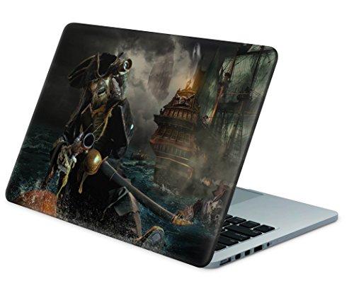 """Skins4u Laptop Aufkleber Universal Skin Netbook Sticker für bis zu 17,3"""" Displays in 41,5x33cm - Death Pirate"""
