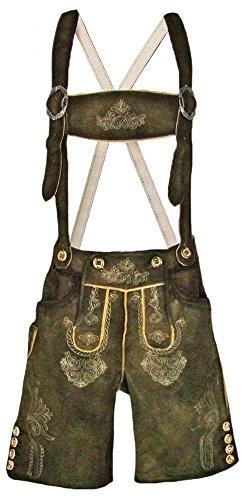 fcbe8efac897 Trachten Lederhose Rafael mit Stegträger Gr. 54 - Kurze Lederhose für  Herren - Markenware von