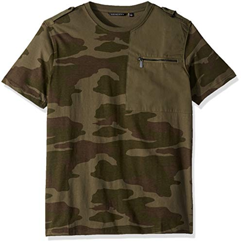 Sean John Herren Short Sleeve Flight Knit T-Shirt, Camouflage, Mittel -
