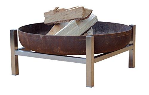 Brasero en acier-caisse (court)-Design contemporain