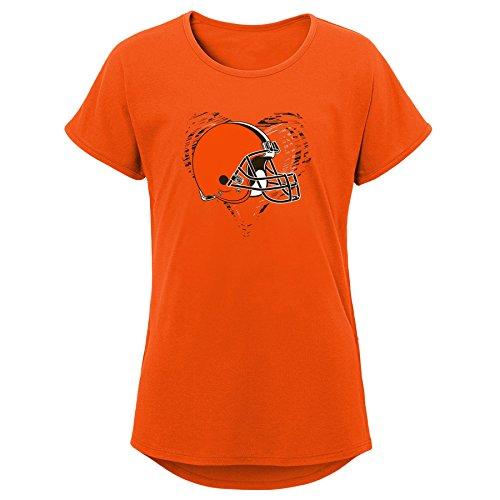 NFL by Outerstuff NFL Cleveland Browns Kinder Dolman-T-Shirt, kurzärmlig, Orange, Größe XL (16)