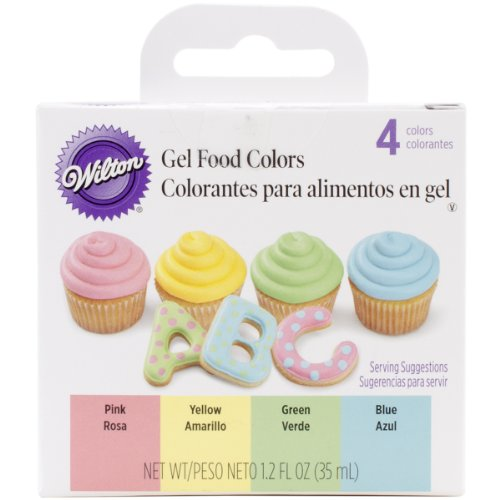 Gel Food Colors .3oz 4/Pkg-Primary