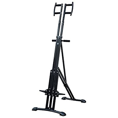 HOMCOM Vertical Climbing Machine Cardio Stepper Home Gym Exercise Workout Fat Burning Training Equipment Black by Sold By MHSTAR