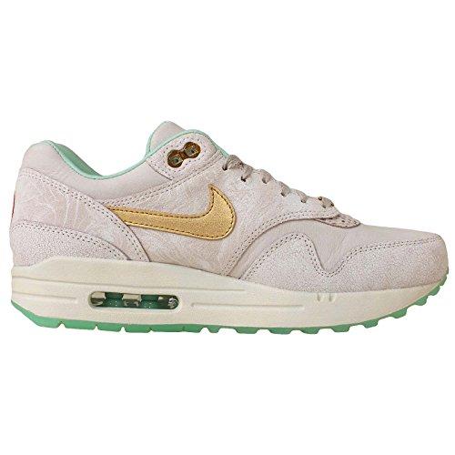 Nike Womens Air Max 1 Year of the Horse (YOTH) QS - Lght Bn/Mtlc Gld-Artc Grn-Cn Trainer white