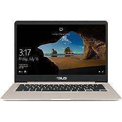 "ASUS VivoBook S14 S406UA-BV121T - Ordenador portátil de 14"" HD (Intel Core i5-8250U, 8 GB RAM, 256 GB SDD, Windows 10 Home) Metal Oro - Teclado QWERTY Español"