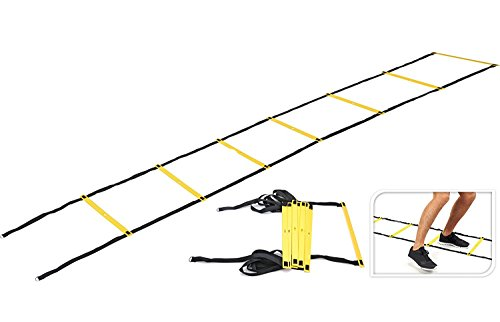 I-WIN Adjustable 8 Meters 18 Rungs Agility Ladder Soccer Speed Fitness Feet Sport Training