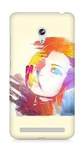 Amez designer printed 3d premium high quality back case cover for Asus Zenfone 6 (Girl Face)