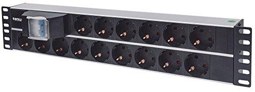 Intellinet 714051 15salidas AC 2U Aluminio, Negro unidad de distribución de energía...