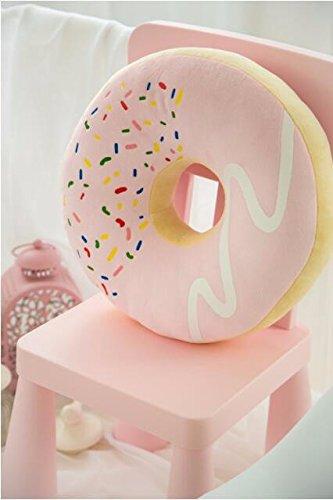 icase4u® Emoji-heißer Verkaufs-Rüschen besetzte Kissen Dekorative Kissen Donut Big Eindickung Kissen Siesta (rosa)