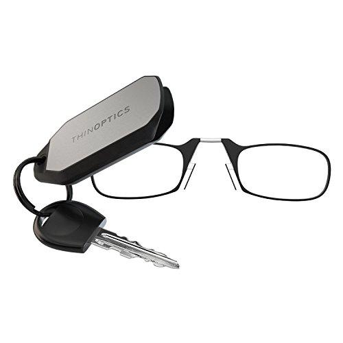 Didinsky Occhiali da lettura MOMA RE, Degli occhiali per leggere sempre a portata di mano senza astine e senza montatura. Resistenza +1.5 - Colore Red