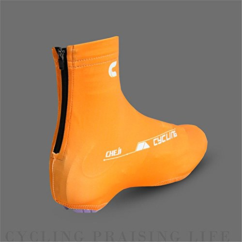 West Radfahren Fahrrad Lock Schuhe Covers Leichtes Easy Dry Staubdicht Überschuhe Orange - orange