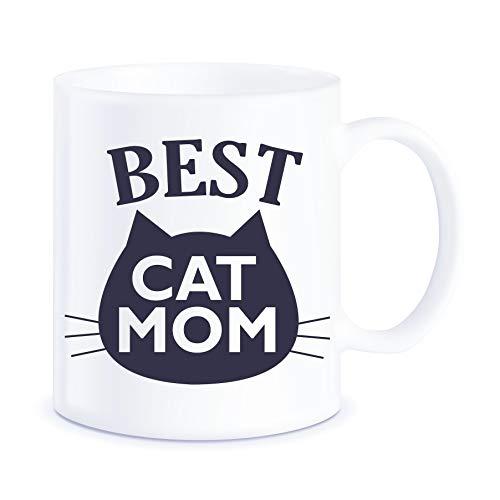 enke, Beste Katze Mama Ever Cat Memes für Katzenbesitzer Katzenliebhaber Purrrfect Weihnachten Muttertag Neuheit Geschenk Keramik Kaffeetasse Teetasse ()