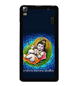 printtech Lord Krishna Small Flute Back Case Cover for Lenovo A7000