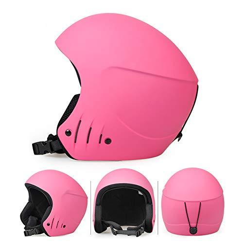 SCJ Skisporthelm, warm und Winddicht, Einzel- / Doppelbrett, leicht,Pink,L