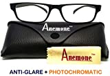 Anemone Premium Anti-glare Photochromatic Zero power sunglasses for Protection from Computer Digital Screens