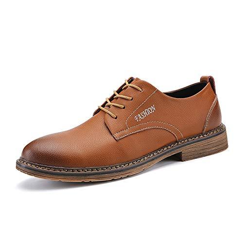 HILOTU Scarpe da Uomo di Oxford Scarpe da Uomo di Moda Vintage Business Meeting Appuntamento Scarpe Uomo (Color : Marrone, Dimensione : 44 EU)