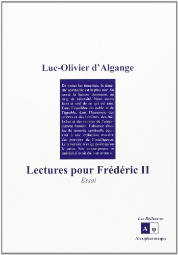 Lectures pour Frdric II