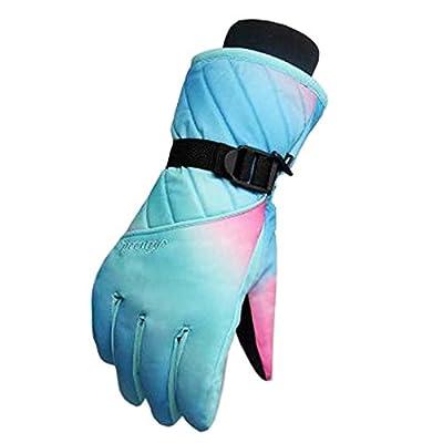 Frauen Snowboard Handschuhe Warm Wasserdichte Ski Handschuhe Radfahren Handschuhe, B