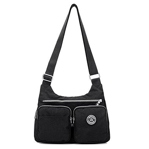MeCooler Schultertasche Mode Umhängetasche Damen Taschen Leichter Messenger Bag Wasserdicht Kuriertasche Lässige Sporttasche Reisetasche