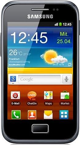 Samsung Galaxy Ace Plus S7500 Smartphone (9,3 cm (3,7 Zoll) Touchscreen, 5 Megapixel Kamera, Android 2.3) dark-blue