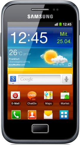 Samsung Galaxy Ace Plus S7500 Smartphone (9,3 cm (3,7 Zoll) Touchscreen, 5 Megapixel Kamera, Android 2.3) dark-blue -