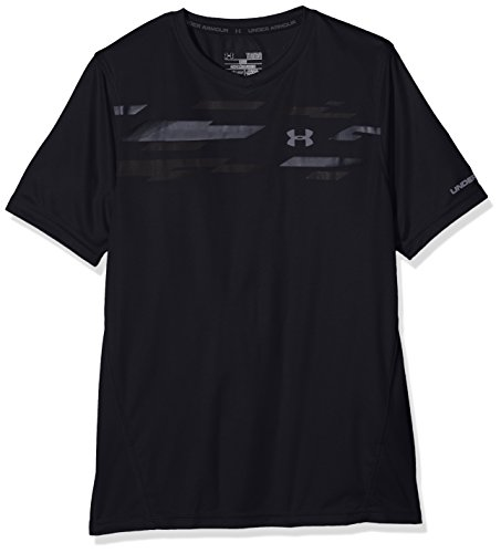 Kinder Armour Under T-shirt (Under Armour Jungen Challenger Short Sleeve Train Top Fußball-Shirts, Black, L)