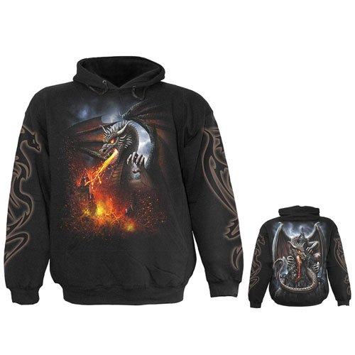 SPIRAL - Kapuzensweater Dragon Lava (Size: S)