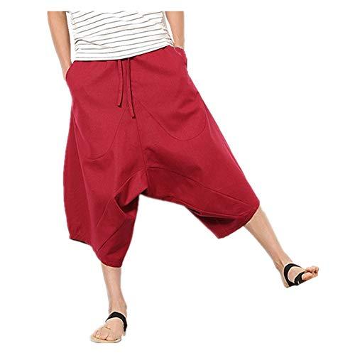YURACEER Sommer Hosen Herren Kurze Hosen Mit Verstellbarem Tunnelzug Baumwolle Shorts Männer Elastische Taille Shorts Herren Atmungsaktive Casual Shorts für Männlichen Strand Kurze Männlichen x1 -