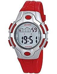 Montre Enfant quartz digitale bracelet plastique rouge