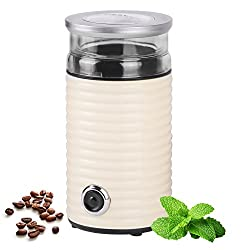 TZS First Austria - 65g Retro-Kaffeemühle | 160 Watt | fein bis grob | Espresso geeignet | Elektrische Kaffeemühle für Kaffeebohnen | Zerkleinerer für Walnüsse oder getrocknete Kräuter