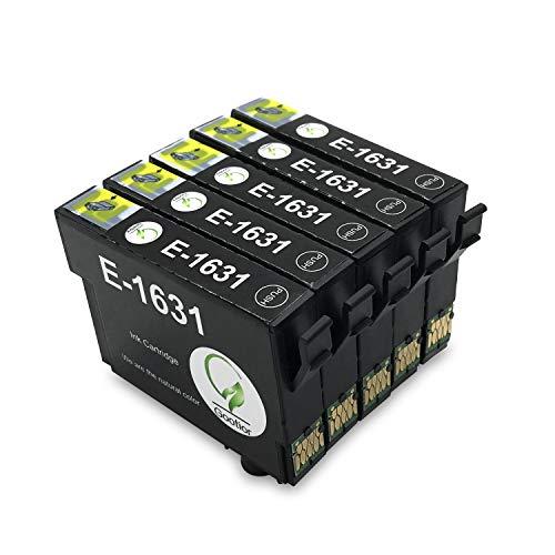16XL Compatibili Cartucce Epson 16 XL Cartucce d'inchiostro, Compatibile con Epson Workforce WF-2750DWF WF-2630WF WF-2510WF WF-2650DWF WF-2010W WF-2520NF WF-2530WF WF-2540WF WF-2660DWF (5 Nero)
