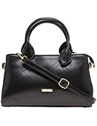 ESBEDA Black Solid Pu Synthetic Material Arm Handbag For Women's